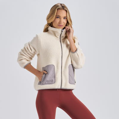 Womens Alpine Sherpa Jacket | Natural