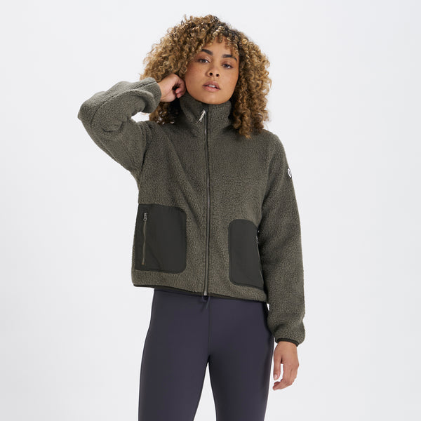 Womens Alpine Sherpa Jacket | Oregano
