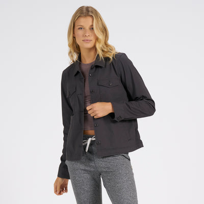 Womens Ripstop Jacket | Charcoal