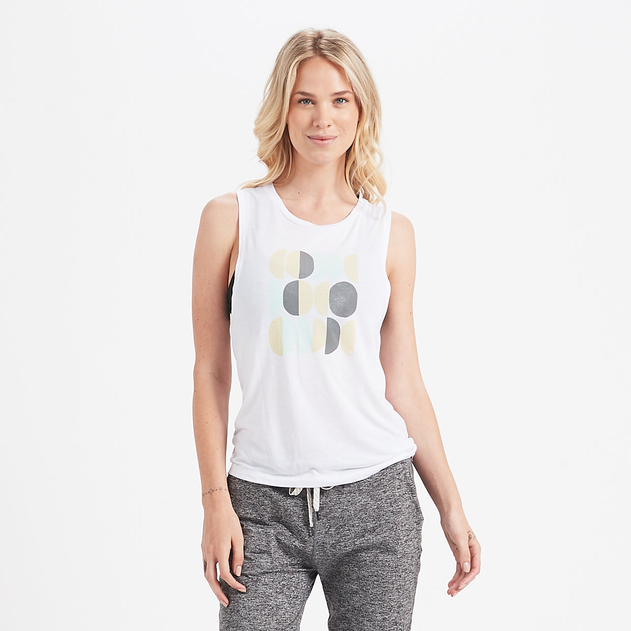 Mod Moon Muscle Tank | White