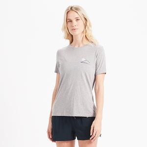 Sunset Watercolor Tee | Heather Grey