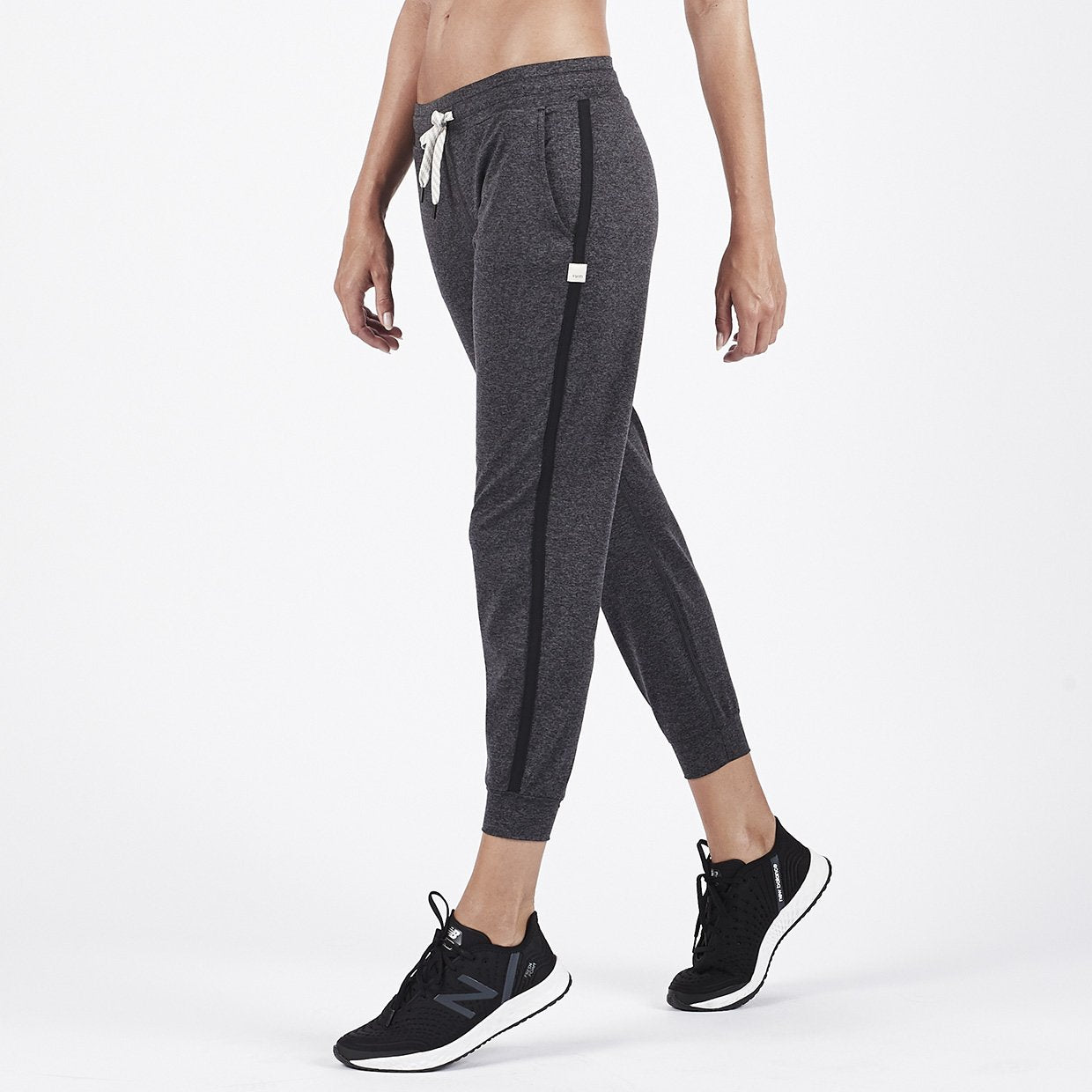 Performance Jogger - Charcoal Heather Stripe - Charcoal Heather Stripe 1