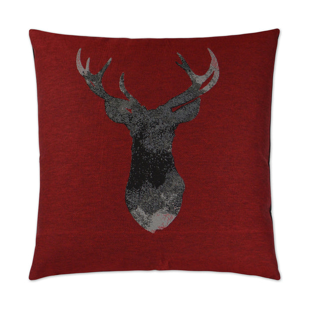 Red Buckhead Pillow