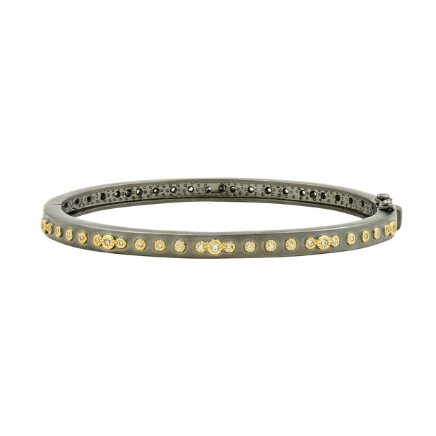 Mini Stud Eternity Hinge Bangle