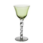 Twisted Stem Wine Glass
