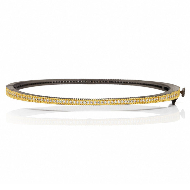 Thin Pavé Hinge Bangle