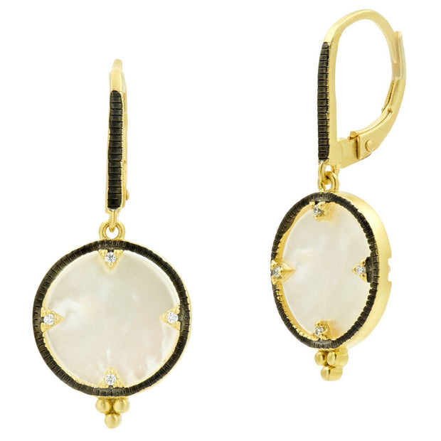 Pearl Eclipse Lever Back Earrings