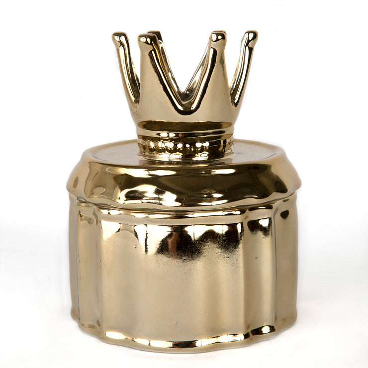 Gold Crown Jewelry Jar