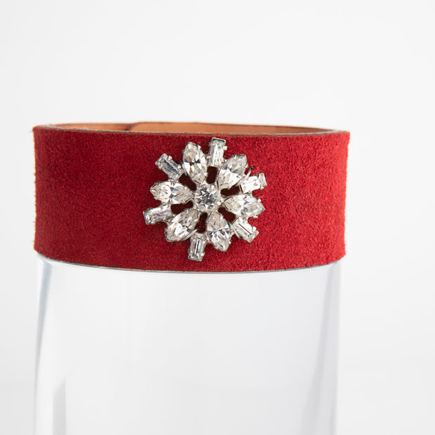 1940's Earring Red Cuff Bracelet