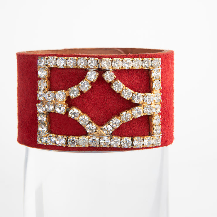 1960's Shoe Clip Red Cuff Bracelet