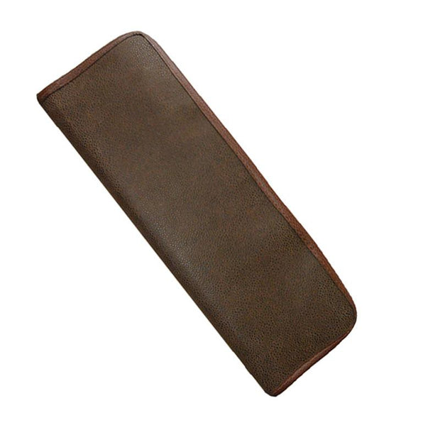 Brown Faux Suede Tie Case
