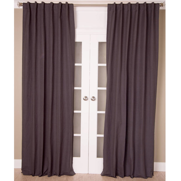 Pewter Linen & Cotton Curtain Panel