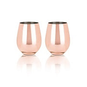 Metal Stemless Wine Glasses