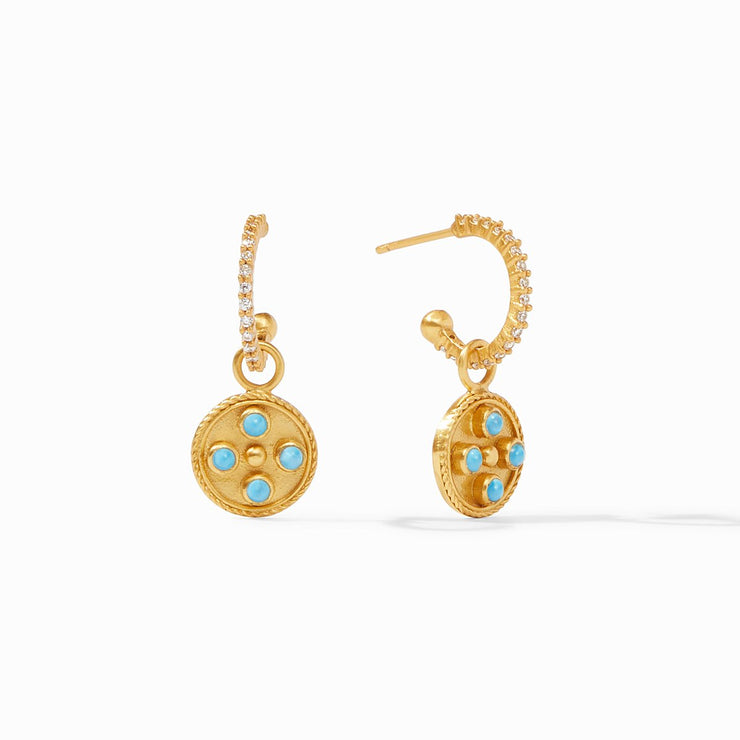 Paris Hoop and Charm Earring
