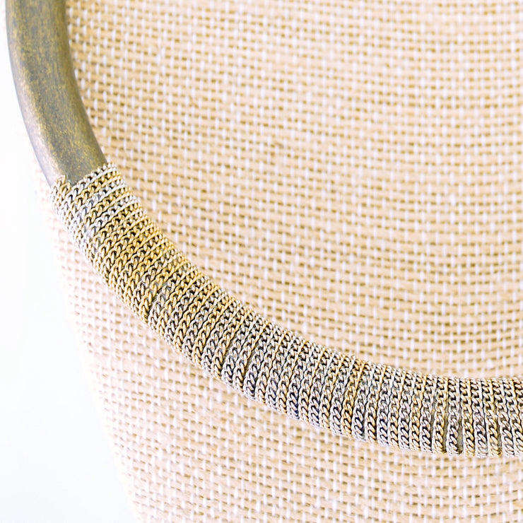 Metal Tube Necklace