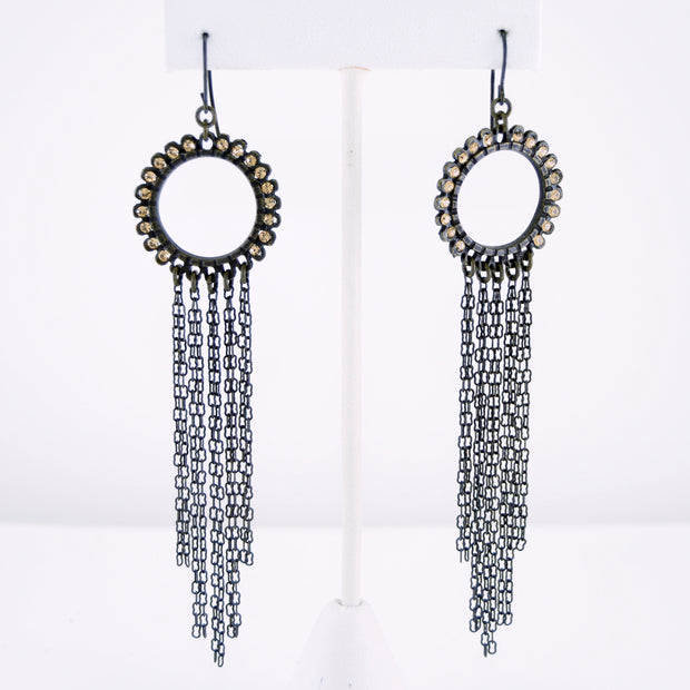 Circle Waterfall Earring