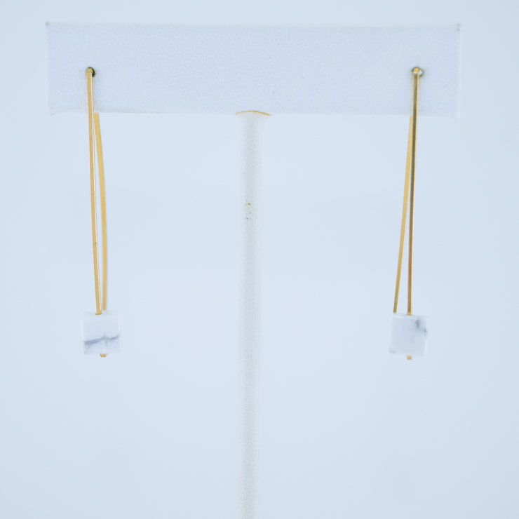 White Cube Earrings