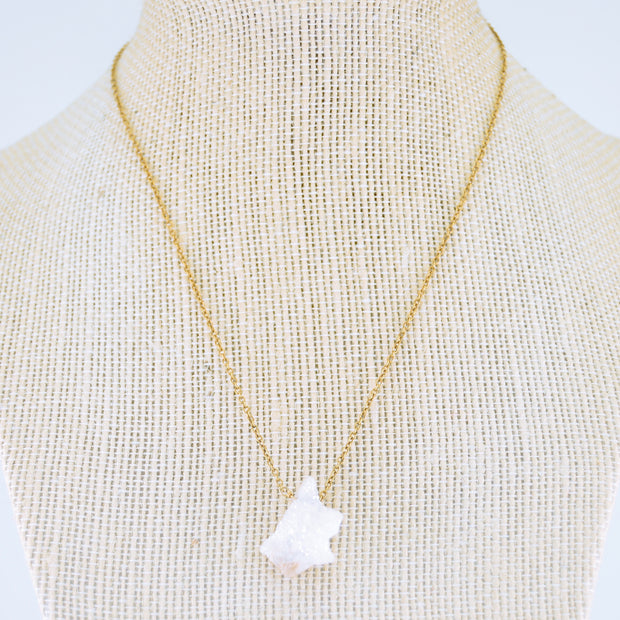 White Druzy Necklace