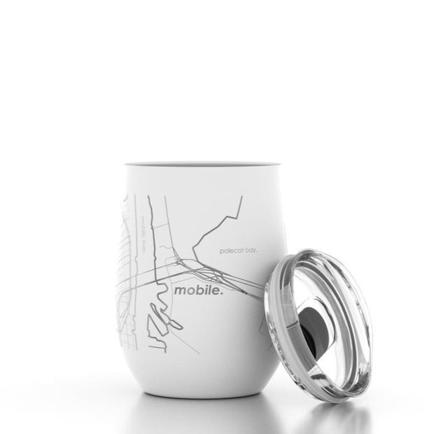 City Map Stemless Wine Tumbler