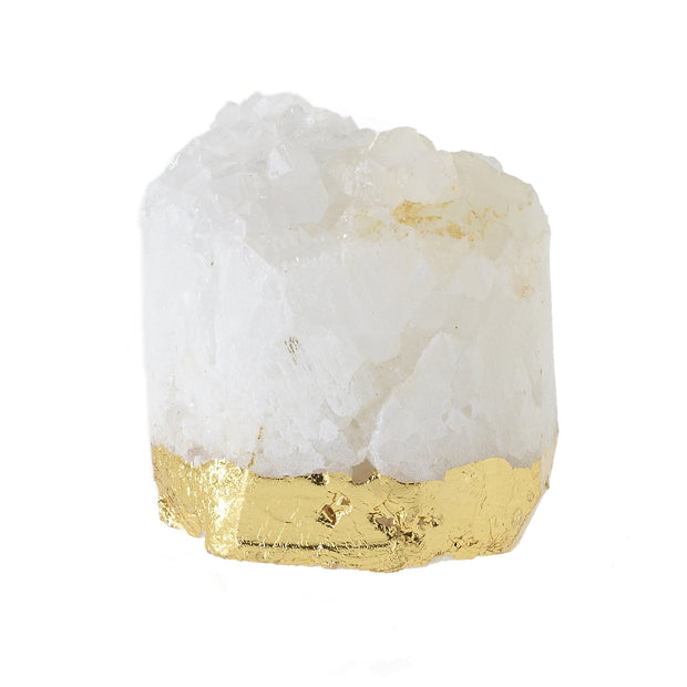 Quartz Geode Name Card Holder