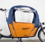 Babboe City Rain Tent in Navy Blue Side Open