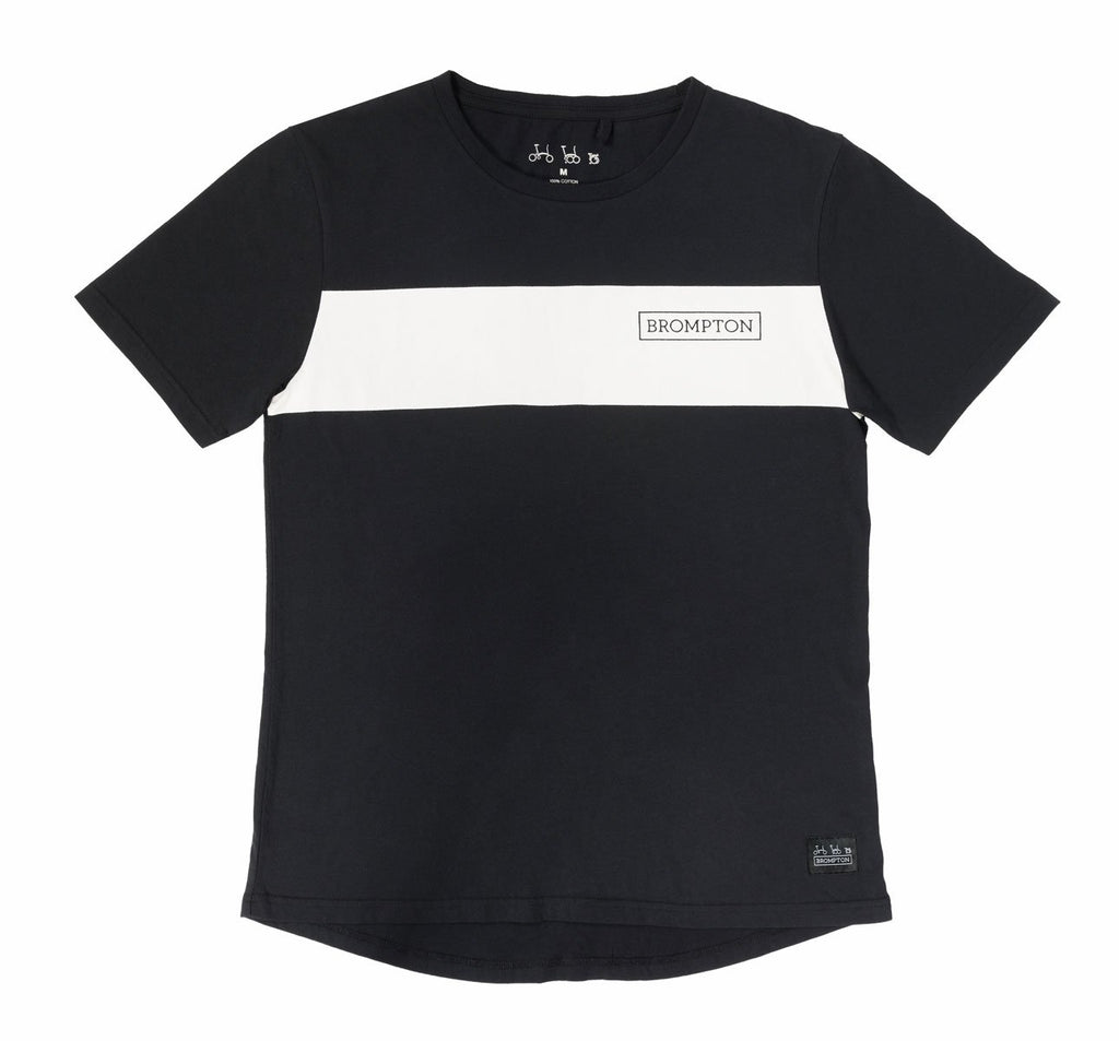 Brompton Bicycles Logo Series T-Shirt in Black with White Stripe