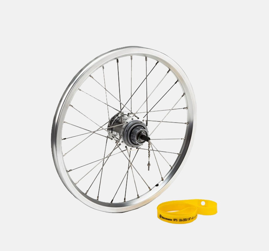 Brompton 3-Speed BWR Rear Wheel for 6-Speed bikes in Silver