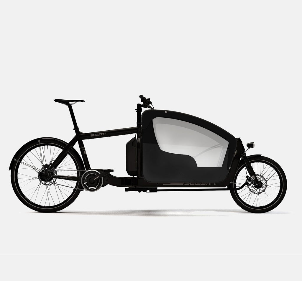 LARRY VS HARRY BULLITT SHIMANO STEPS E6000 CARGO BIKE WITH KIDS PACK IN CLASSIC BLACK