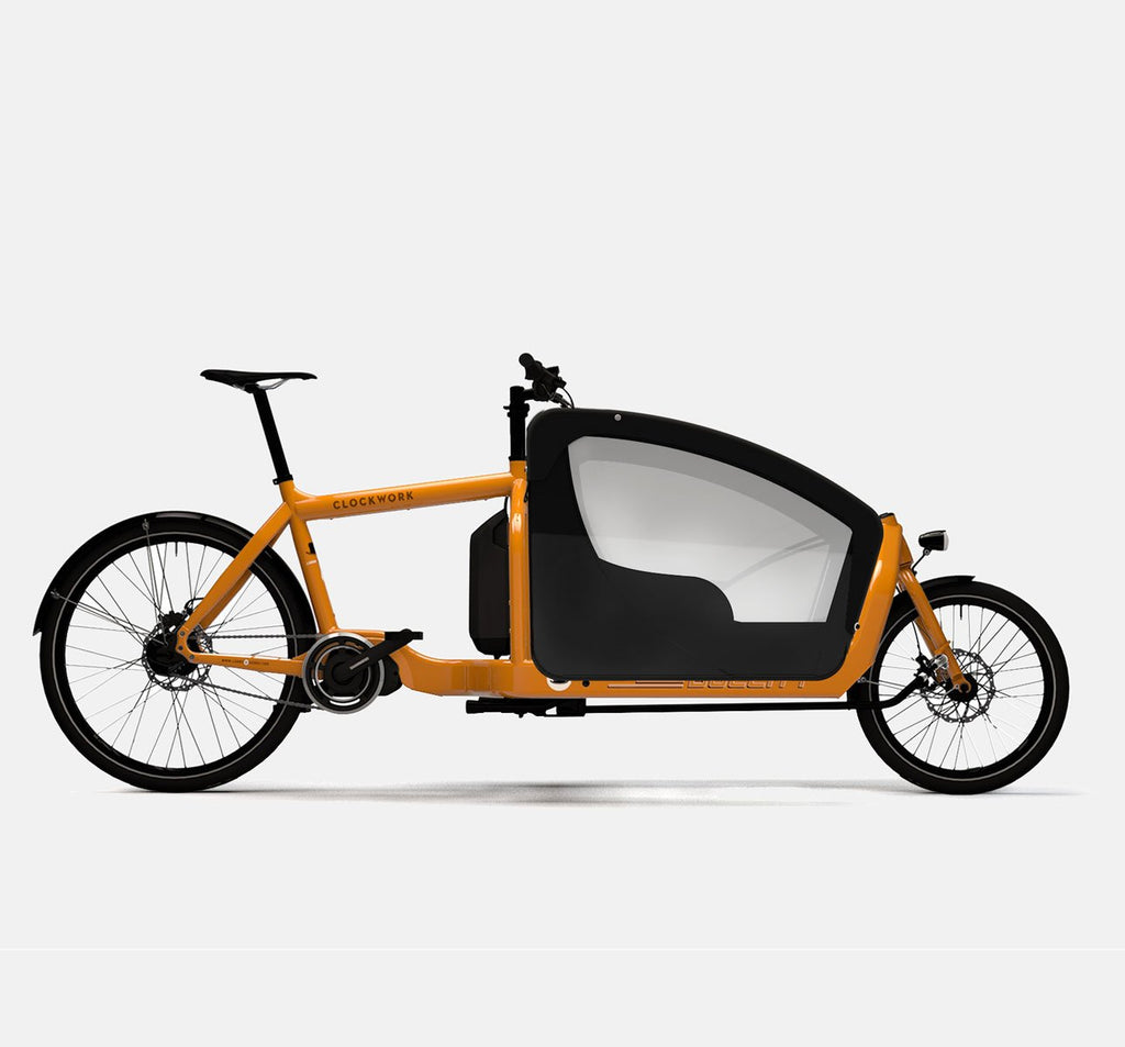 LARRY VS HARRY BULLITT SHIMANO STEPS E6000 CARGO BIKE WITH KIDS PACK IN CLOCKWORK ORANGE