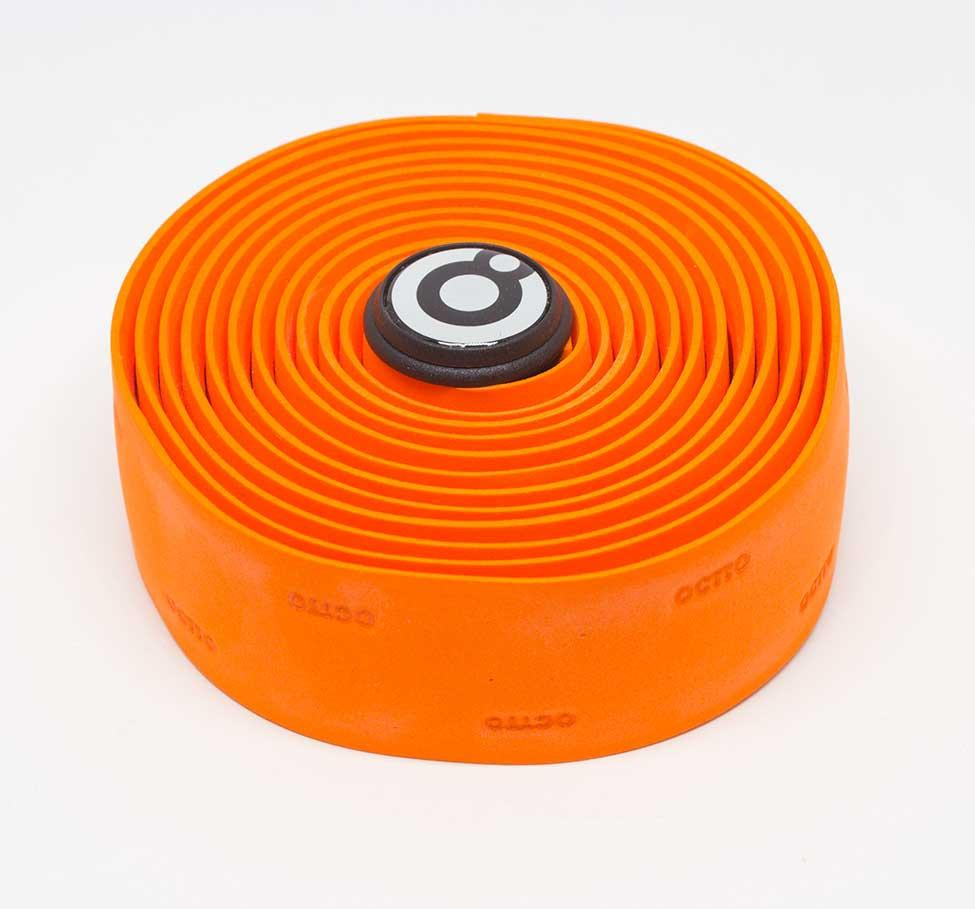 OCTTO BICYCLE GEL HANDLEBAR TAPE IN BRIGHT ORANGE