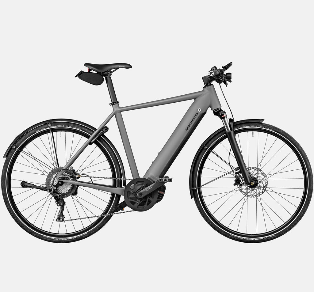 Riese & Muller Roadster Touring Suspension City E-Bike with Upgrades in Grey Matte