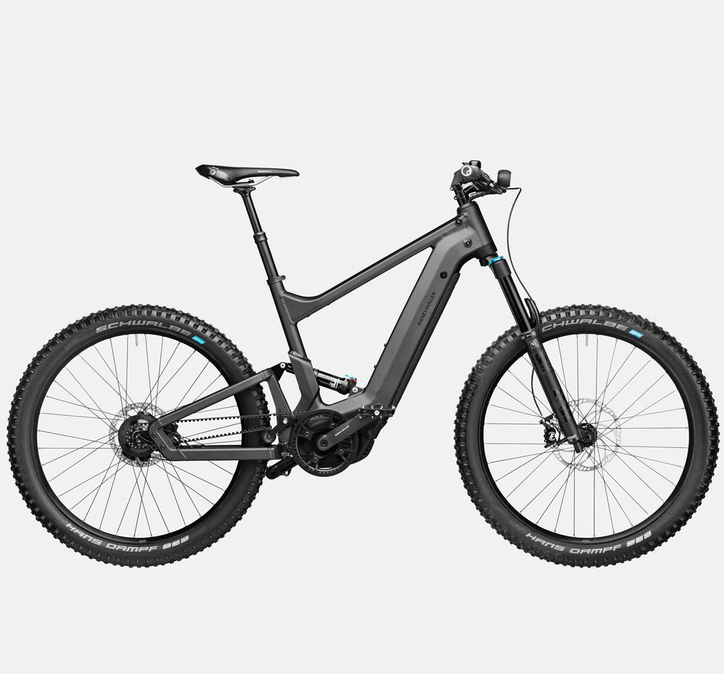 Riese & Muller Delite Mountain Rohloff E-Bike with Fox Suspension and Dropper Seatpost in Urban Grey Matte