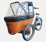 Babboe Carve Rain Tent Mounted On Cargo Bike - Closed