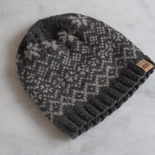 Faroeknit wool beanie for men