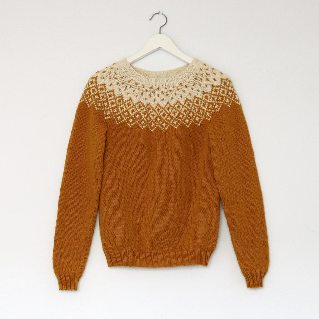 Bohéme sweater PDF knitting pattern for women