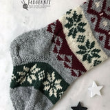 Christmas Stocking pattern, knit PDF stocking pattern, Christmas Stocking, diy stocking, Nordic Night, Nordic Fair Isle pattern