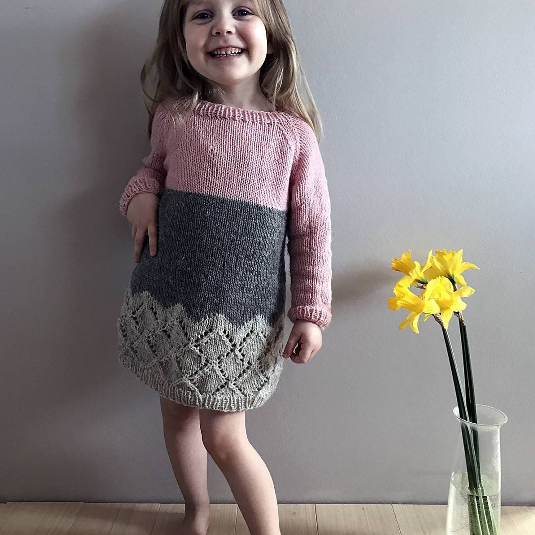 Hipster dress knitting pattern