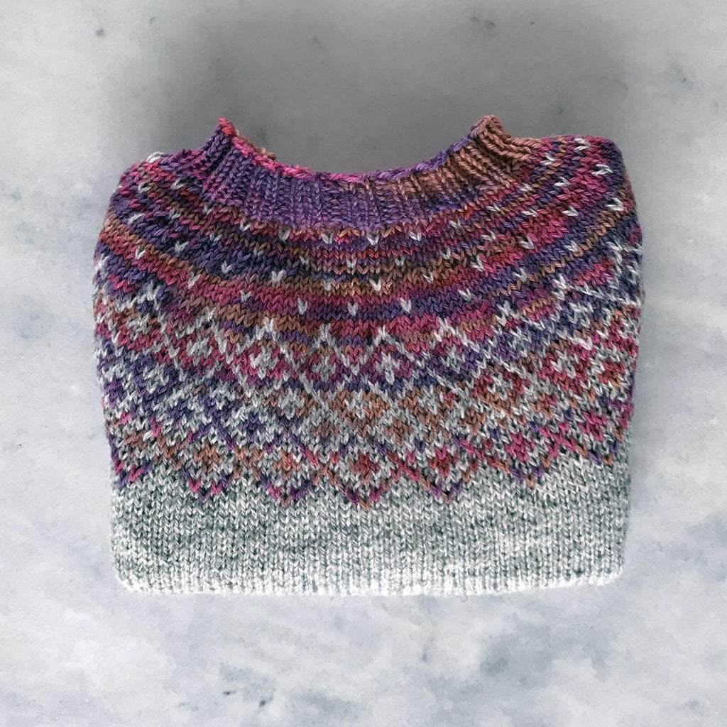 Bohéme wool sweater for babies, multicolor yarn