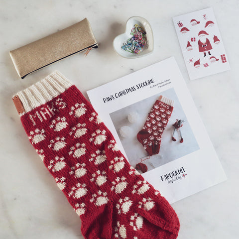 Paws Christmas Stocking pattern for pets