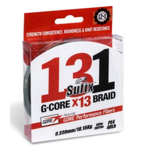Sufix G-Core 131 X13 braid 150yds