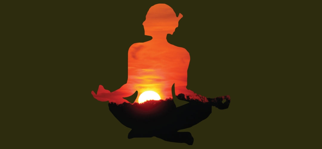 meditating lady image