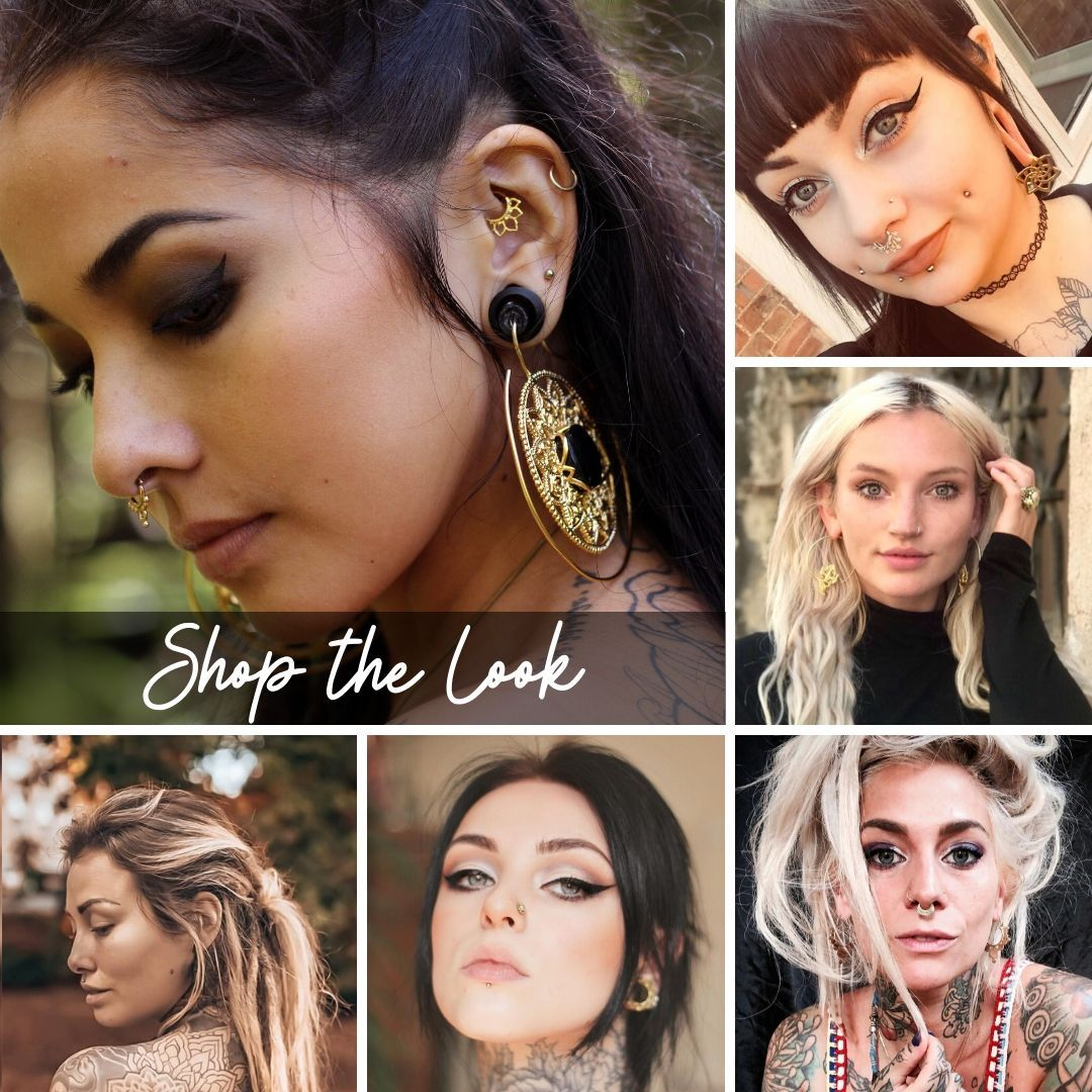 Image collage of styled looks with Tribalik Jewellery