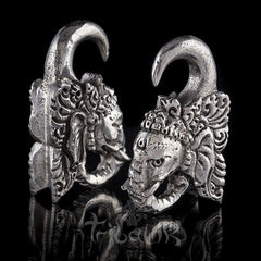 silver ganesh ear weights
