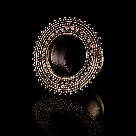 Triple Afghan Brass Ear Tunnels - Plugs - Eyelets