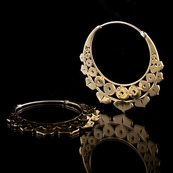gold brass silver hoop earrings