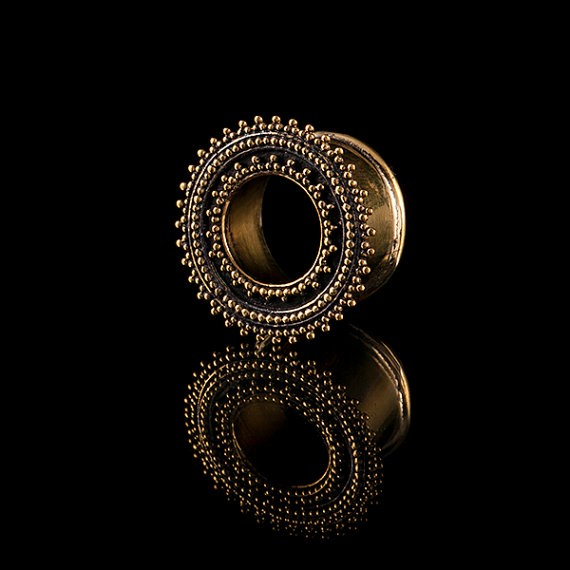 Afghan Brass Ear Tunnels - Plugs - Eyelets
