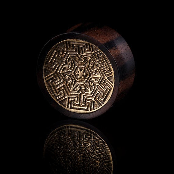 LABYRINTH Brass & Wood Ear Plugs
