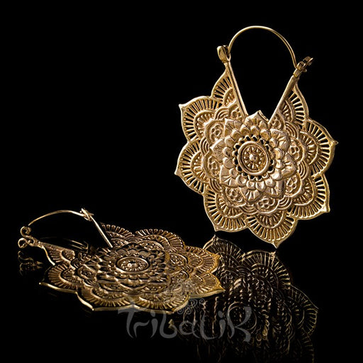 18K LA FLOR Yellow Gold Plated Earrings
