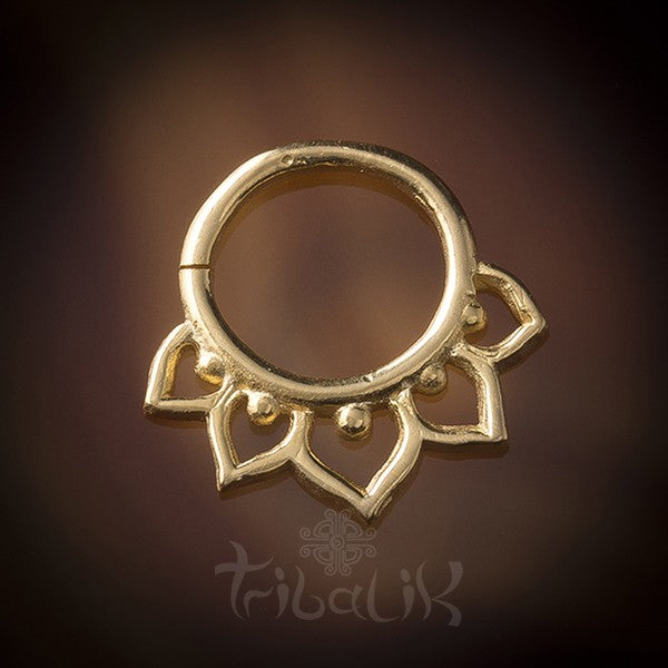 Gold Plated Lotus Flower Septum Ring