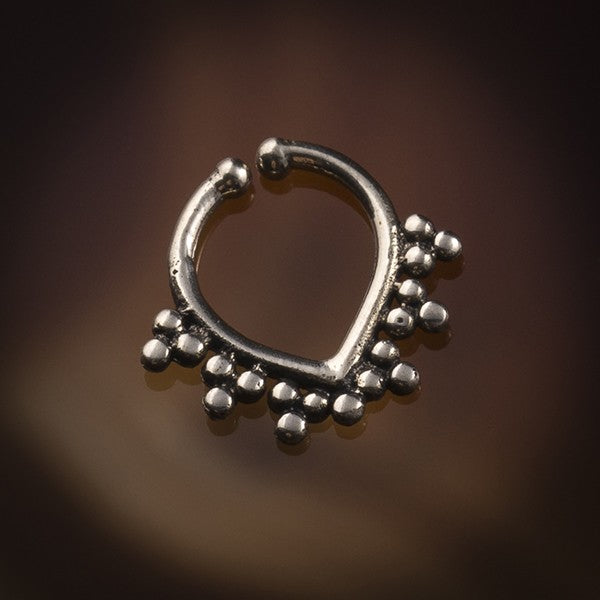 silver fake septum ring